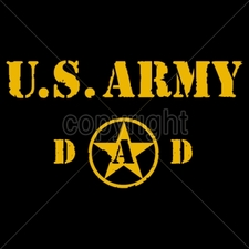 Wholesale Custom Printed Military T Shirts - 14033-10x6-us-army-dad