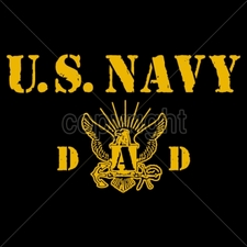 Wholesale Custom Printed Military T Shirts - 14034-10x6-us-navy-dad