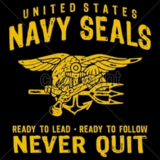 NAVY Wholesale Custom Printed Military T Shirts - 14310-12x13-united-states-navy-seals-ready-lead-ready-follow-never-qui