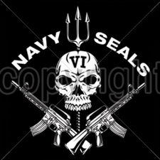 Wholesale Custom Printed Military T Shirts - 14315-12x13-navy-seals-vi-skull