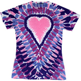 Sublimation Tie Dye T Shirts Ladies Wholesale - 1555-648-S