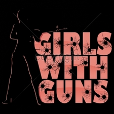 T Shirts, Custom T Shirts,Gun T Shirts, Wholesale T Shirts - 16002-9x8-girls-guns