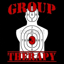 Wholesale Custom Printed Gun T Shirts - 16207-13x11-group-therapy