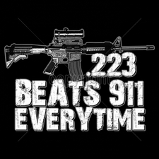 Wholesale Custom Printed Gun T Shirts - 16208-13x9-223-beats-911-every-time