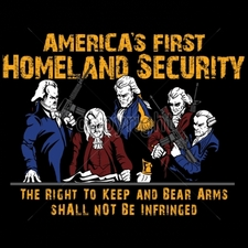 Wholesale Clothing Apparel - Bulk T Shirts Gun - 16269-12x9-americas-first-homeland-security-right-keep-and-bear-arms-s