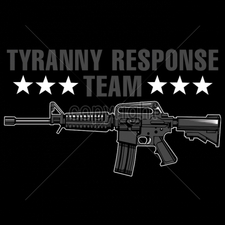 Wholesale Custom Printed Gun T Shirts - 16284-13x7-tyranny-response-team