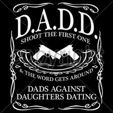Wholesale Custom Printed Gun T Shirts - dadd-dads-against-daughters-dating T Shirts, Gun - 16309-12x14-