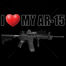 Wholesale Custom Printed Gun T Shirts - 16322-11x6-i-heart-my-ar-15