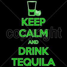 Wholesale Bulk T Shirts Funny Fashion - Wholesale - Funny T Shirts - 16420-9x14-keep-calm-drink-tequila-neon