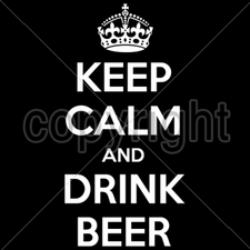 Wholesale Bulk T Shirts Funny Fashion - Wholesale - Funny T Shirts - 16425-7x14-keep-calm-drink-beer