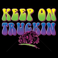 Wholesale T Shirts, Custom T Shirts, Printed - 16595-7x5-keep-truckin-neon