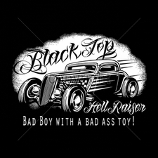 Clothing T Shirts Funny Cheap Prices Wholesale Suppliers USA Made -17046-12x8-black-top-hell-raiser-bad-boy-bad-ass-toy-hot-rod-black-shi