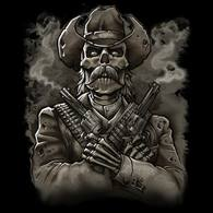 Skull Cowboy Guns Wholesale T-Shirts - Custom Wholesale T-Shirt Printing Online - 18625HL1-1