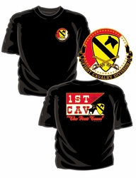 Military T Shirts Bulk Wholesale - 1st Cavalry Division T-Shirt - Black