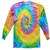 Bulk Wholesale T Shirts Long Sleeve Tie Dye - 2000-101-S