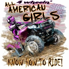 Wholesale Clothing Products T Shirts Discount Bulk - 4 Wheelin American Girls