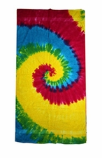 Tie Dye Beach Towels Wholesale - Reactive Rainbow