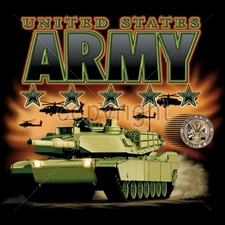 Wholesale Custom Printed Military T Shirts - 9511-12x13-united-states-army