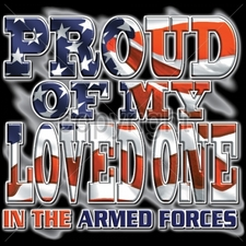 Wholesale Custom Printed Military T Shirts - 9697-10x11-proud-my-loved-one