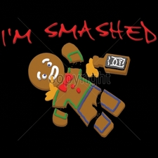 Wholesale T-Shirts Bulk Funny Cool Cheap - 9x7-im-smashed-gingerbread-man