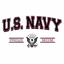Funny Military Navy Proud Mom Clothing Wholesale T-Shirts - A12360E
