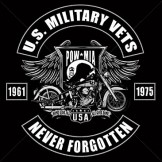 Wholesale Pow Mia Motorcycle Military T-Shirts - a1916g