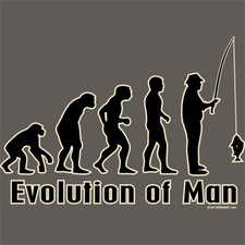 Wholesale T Shirts, Fishing - Evolution of man - A3206F