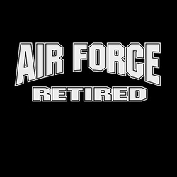 Wholesale T Shirts Hats, Military Tee Shirts, Air Force Retired White - a8123g