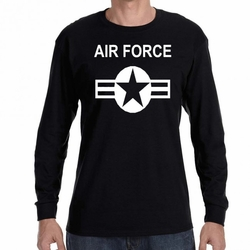 Air Force T-Shirts Wholesale - Air Force Symbol 22320 long sleeve black