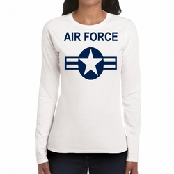 Air Force T Shirts Wholesale - Symbol 22320 long sleeve white