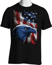 Wholesale Patriotic T Shirts - American Flag Eagle T Shirt Patriotic Stars Stripes Oversize
