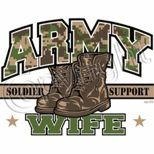 Wholesale T Shirts, Custom Clothing - Army Wife a6102d