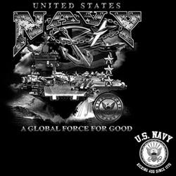 Wholesale Military Patriotic T Shirts Bulk - US Navy T Shirts Bulk - 17546D0