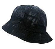 Wholesale Tie Dye Bucket Fishing Hats - Black