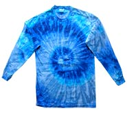 Clothing T Shirts Tie Dye Long Sleeve Wholesale Suppliers - BLUE JERRY