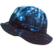 Wholesale Tie Dye Bucket Fishing Hats - blue ocean