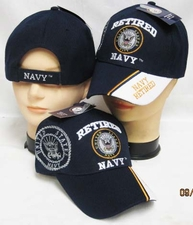 Wholesale Bulk Hats Military Fashion - Retired Navy Hats Wholesale - CAP592