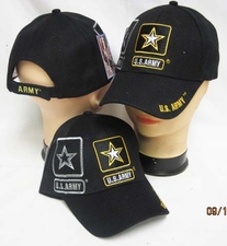 Wholesale Embroidered Military Baseball Caps - Army Gold Star Hats Military Baseball Caps - CAP601S