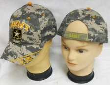 Wholesale Hats, Military Caps - Army Gold Star digi-camo Hats Wholesale - CAP601TC
