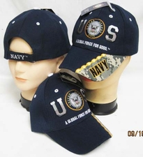 Wholesale Caps, Wholesale Hats, Military - US Navy Emblem Navy Hats Wholesale - CAP602A