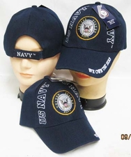 Wholesale Caps Hats - Military Fashion - CAP602F Navy Logo US NAVY on sides Cap