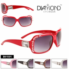 Bulk Rhinestone Fashion Sunglasses - Style #DI151 (Assorted Colors) (1