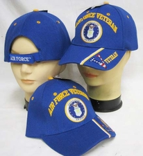 Wholesale Military Caps Hats - CAP593BAF Vet Emblem V on Bill Cap