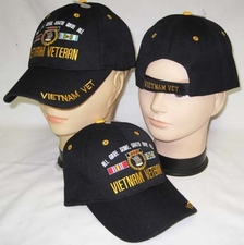 Wholesale Caps, Wholesale Hats, Military - CAP607BA Vietnam Vet Gave All Cap Bk