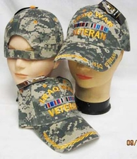 Wholesale Hats, Military Caps - IRAQ Vet Cap Camo - CAP781C