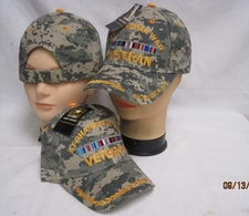 Wholesale Caps, Wholesale Hats, Military - CAP782C AFGHANISTAN Vet Cap Camo