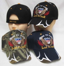 Wholesale Biker Baseball Hats - Wholesale Biker Hats - CAP891A Live to Ride Cap