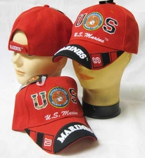 Military Caps Wholesale - CAP600ER Marine Logo Marine Bill Cap