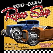 Wholesale T-Shirts Bulk - car 12x14-mid-way-race-shop-no-nitros-weekly-trophies-thursday-ni