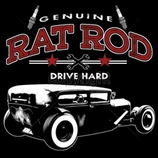 Wholesale Funny Cool Cheap T-Shirts - car 13x12-genuine-rat-rod-drive-hard